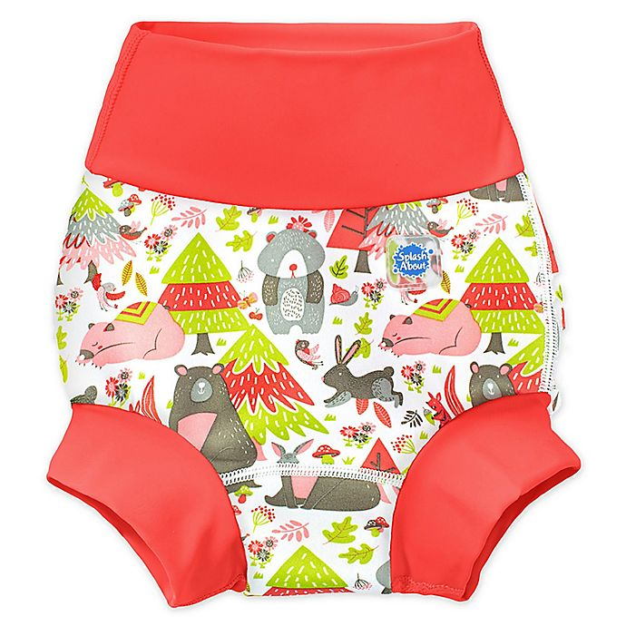 Alternate image 1 for Splash About Happy Nappy™ Into the Woods Swim Diaper in Red
