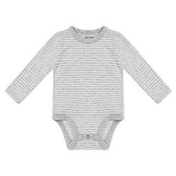 Petit Lem™ Newborn Organic Cotton Long Sleeve Bodysuit in Grey