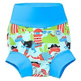 Splash About Happy Nappy Dino Pirates Swim Diaper in Blue