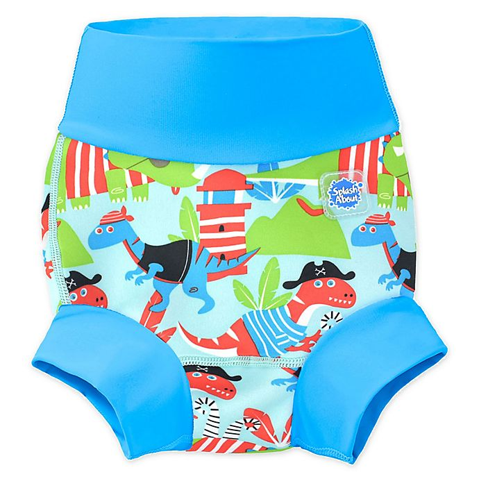 Alternate image 1 for Splash About Happy Nappy Dino Pirates Swim Diaper in Blue