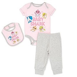 Pinkfong 3-Piece Baby Shark Layette Set in Pink