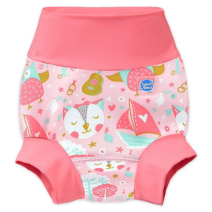 Alternate image 1 for Splash About Happy Nappy™ Owl and the Pussycat Swim Diaper in Pink