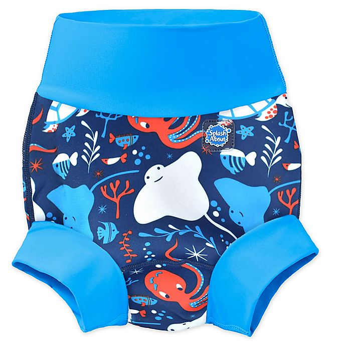 Alternate image 1 for Splash About Happy Nappy Under the Sea Swim Diaper in Blue