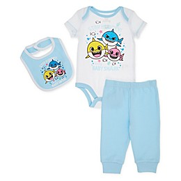 Pinkfong 3-Piece Baby Shark Layette Set in Blue