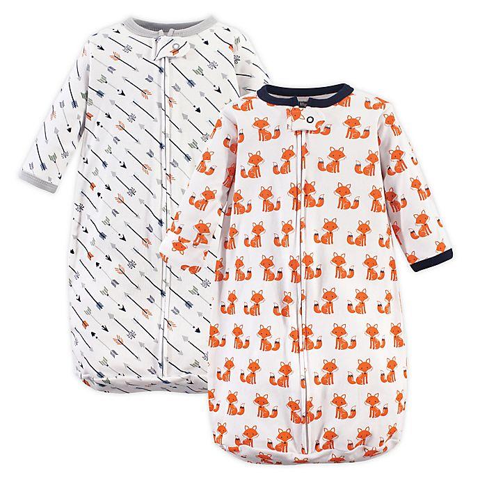 Alternate image 1 for Hudson Baby® Size 3-9M 2-Pack Fox Sleeping Bags in Orange