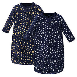 Hudson Baby® Size 3-9M 2-Pack Stars Sleeping Bags