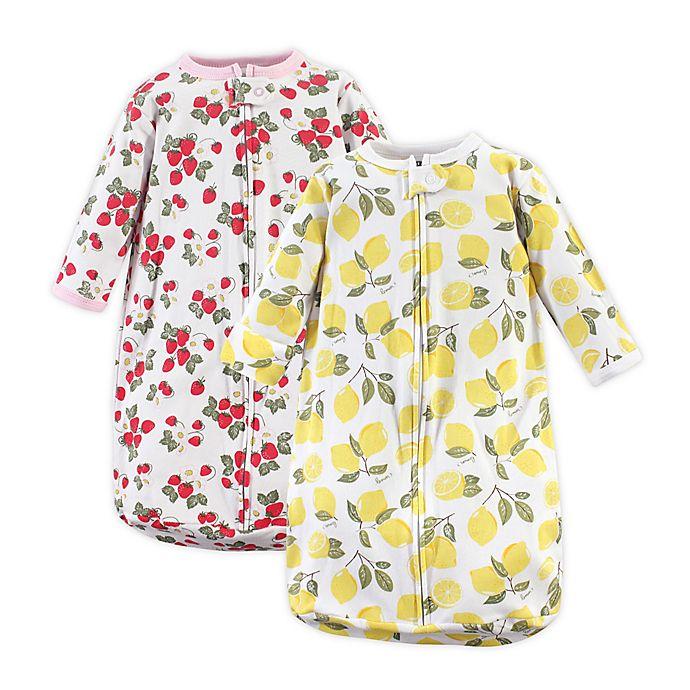 Alternate image 1 for Hudson Baby® Size 3-9M 2-Pack Lemon Sleeping Bags