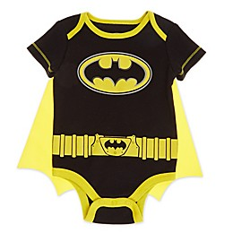 Warner Brothers® Batman Cape Newborn Bodysuit in Black