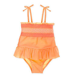 Freestyle Revolution 1-Piece Smocked Swimsuit in Coral