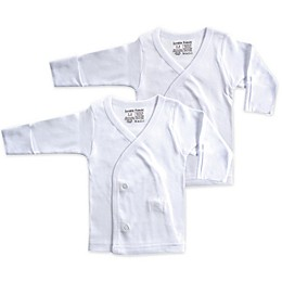 Luvable Friends® 2-Pack Long Sleeve Side Snap Shirts in White