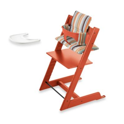 Stokke tripp trapp high chair complete bundle in orange for Offerte stokke tripp trapp seggiolone