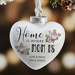 Home Is Where Mom Is Deluxe Heart Ornament
