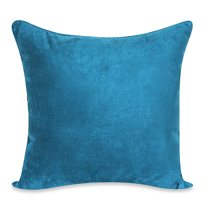 Amazing Heavy Faux Suede 20 Inch Throw Pillow In Dark Teal Bed Andrewgaddart Wooden Chair Designs For Living Room Andrewgaddartcom