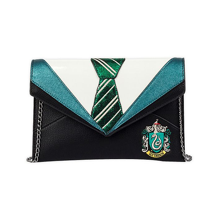 Alternate image 1 for Harry Potter™ Danielle Nicole Slytherin Uniform Clutch in Green