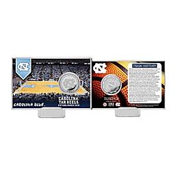 Univdrsity of North Carolina Basketball Team History Silver Coin Card