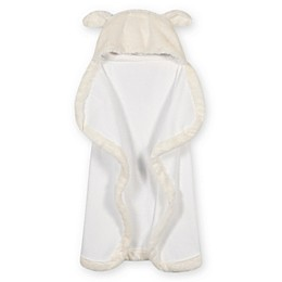 Just Born® Cuddle Plush Hooded Towel in Ivory