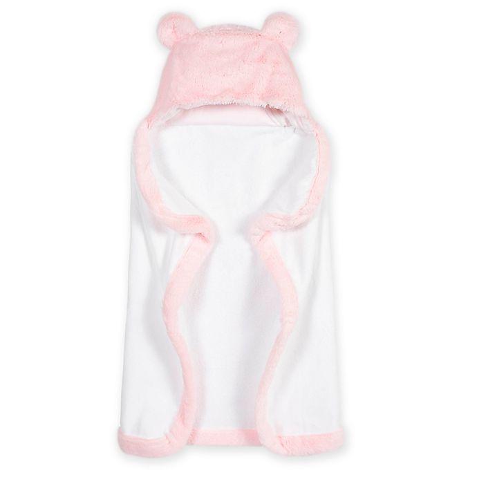Alternate image 1 for Gerber® Just Born® Bear Hooded Towel in Pink