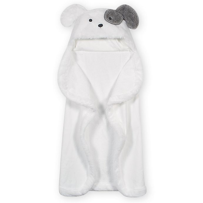 Alternate image 1 for Gerber® Just Born® Puppy Hooded Towel in White