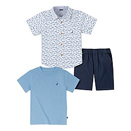 Nautica® 3-Piece Short-Sleeved Shirt and Pant Set
