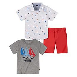 Nautica® 3-Piece Short-Sleeved Shirt and Pant Set