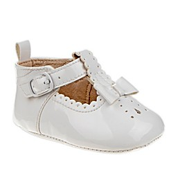 Laura Ashley® T-Strap and Bow Patent Leather Crib Shoe