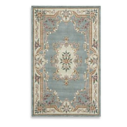 Rugs America New Aubusson Rug in Light Green