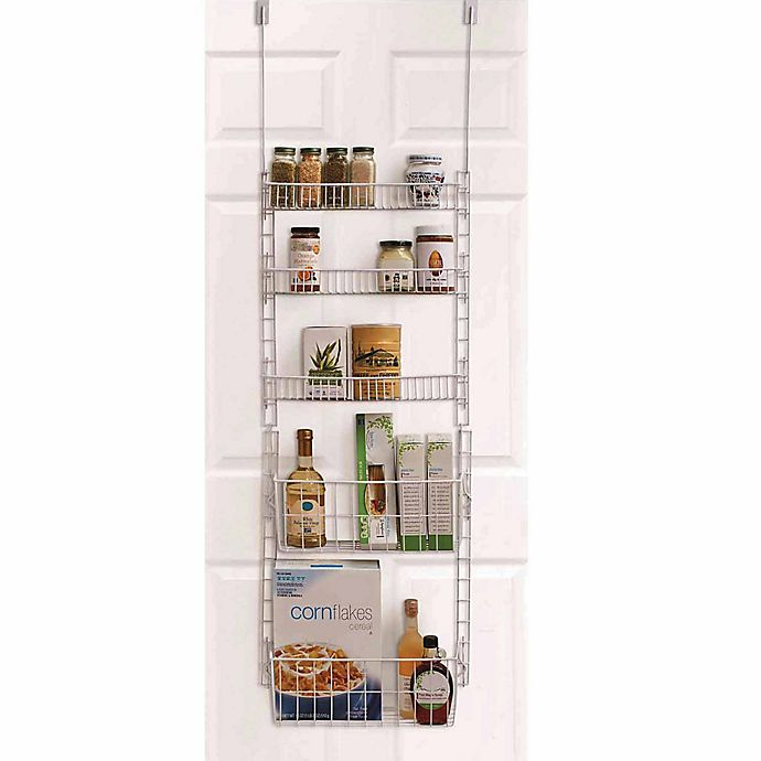 Alternate image 1 for SALT™ Over-the-Door 5-Shelf Pantry Organizer in White