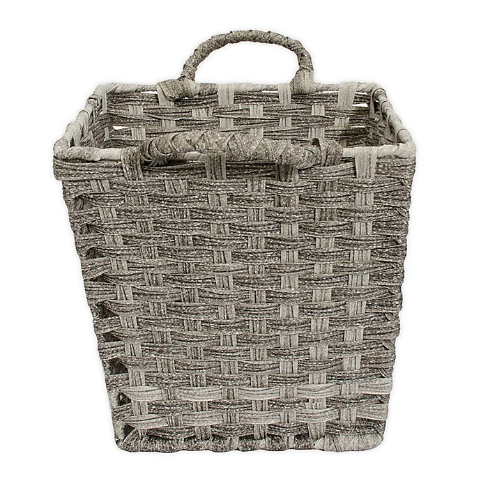 Alternate image 1 for Relaxed Living Woven Faux Rattan 11-Inch Storage Basket in Coffee
