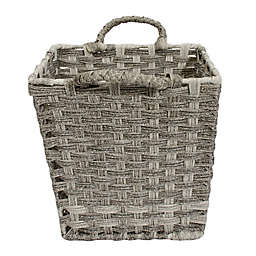 Relaxed Living Woven Faux Rattan 11-Inch Storage Basket in Coffee