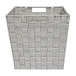 Relaxed Living Woven Stripe 11-Inch Storage Basket