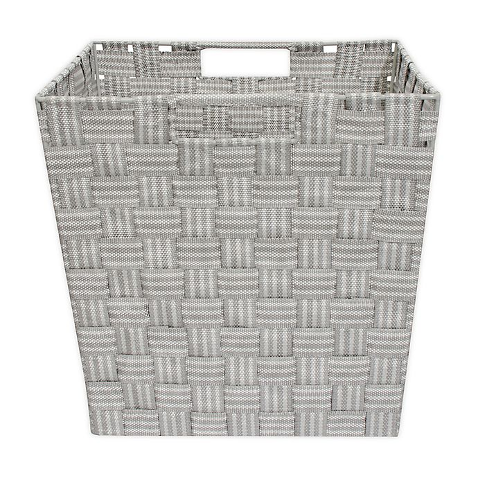 Alternate image 1 for Relaxed Living Woven Stripe 11-Inch Storage Basket in Grey