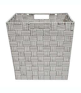 Canasta tejida Relaxed Living con diseño a rayas de 27.94 cm