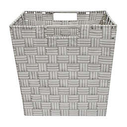 Relaxed Living Woven Stripe 11-Inch Storage Basket in Grey