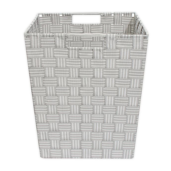 Alternate image 1 for ORG Woven Storage Basket in Grey Stripe