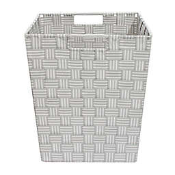 ORG Woven Storage Basket in Grey Stripe