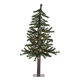 Vickerman Natural Alpine Pre-Lit Christmas Tree with Clear Lights
