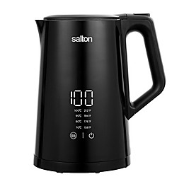 Salton 1.7-Liter Thermal Double Wall Cordless Kettle in Black