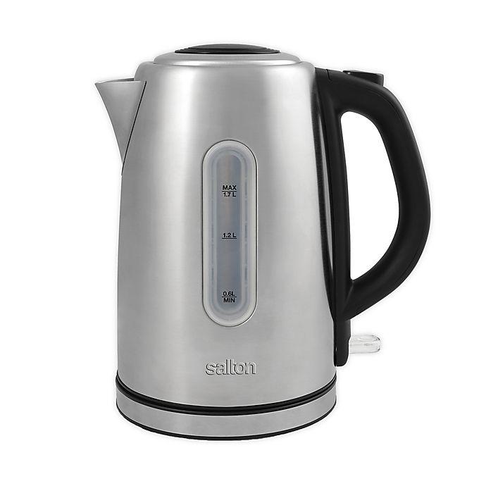 Alternate image 1 for Salton 1.7-Liter Cordless Electric Stainless Steel Kettle