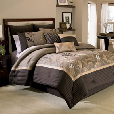 Manor Hill 174 Eden 8 Piece Comforter And Sheet Set In