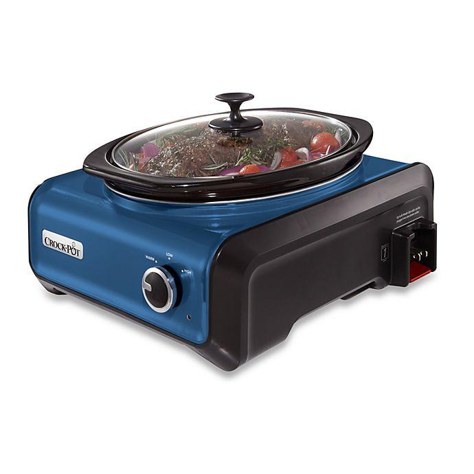 Alternate image 1 for Crock-Pot® 3.5-Quart Oval Hook Up™ Connectable Entertaining System in Metallic Blue