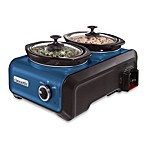 Crock-Pot® 1-Quart Oval Hook Up™ Connectable Entertaining System in Metallic Blue