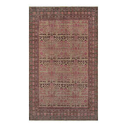 Momeni® Banaras Hand-Knotted Rug in Pink