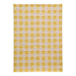 Momeni Geo Hand Hooked Rug in Yellow
