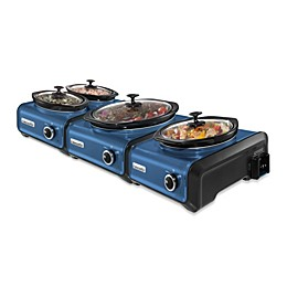Crock-Pot® Hook Up™ Connectable Entertaining System in Metallic Blue