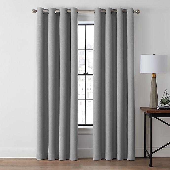 Alternate image 1 for Brookstone® Zadie 84-Inch Grommet 100% Blackout Curtain Panel in Slate Grey (Single)