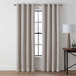 Brookstone®  Zadie 95-Inch Grommet 100% Blackout Window Curtain Panel in Sand