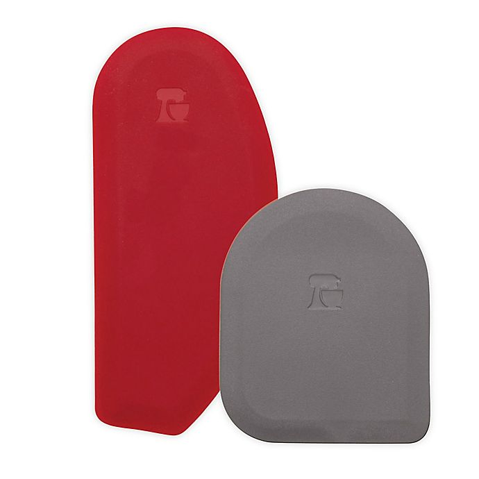 Chef/'n Pastrio 3-in-1 Bench Scraper Set Red 1