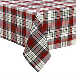 Plaid Block Oblong Tablecloth