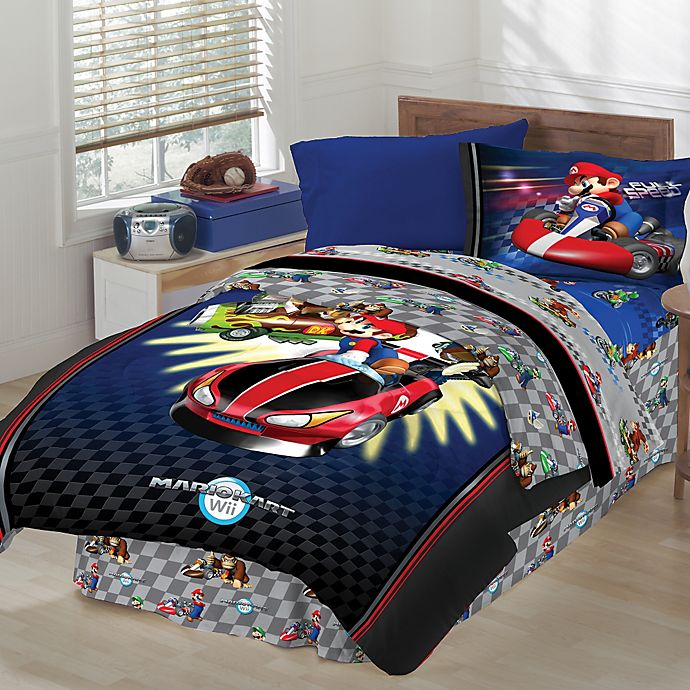 Super Mario Bros Bedding And Bath Collection Bed Bath And Beyond