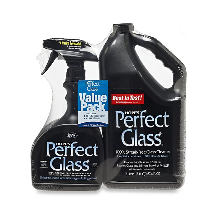 Alternate image 1 for Hope's® Perfect Glass® 67.6 oz. Refill with 32 oz. Spray Cleaner Value Pack